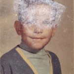 My Kindergarten picture. Forget about the white goo on my face, check out the Lost in Space shirt. I wore that everywhere!